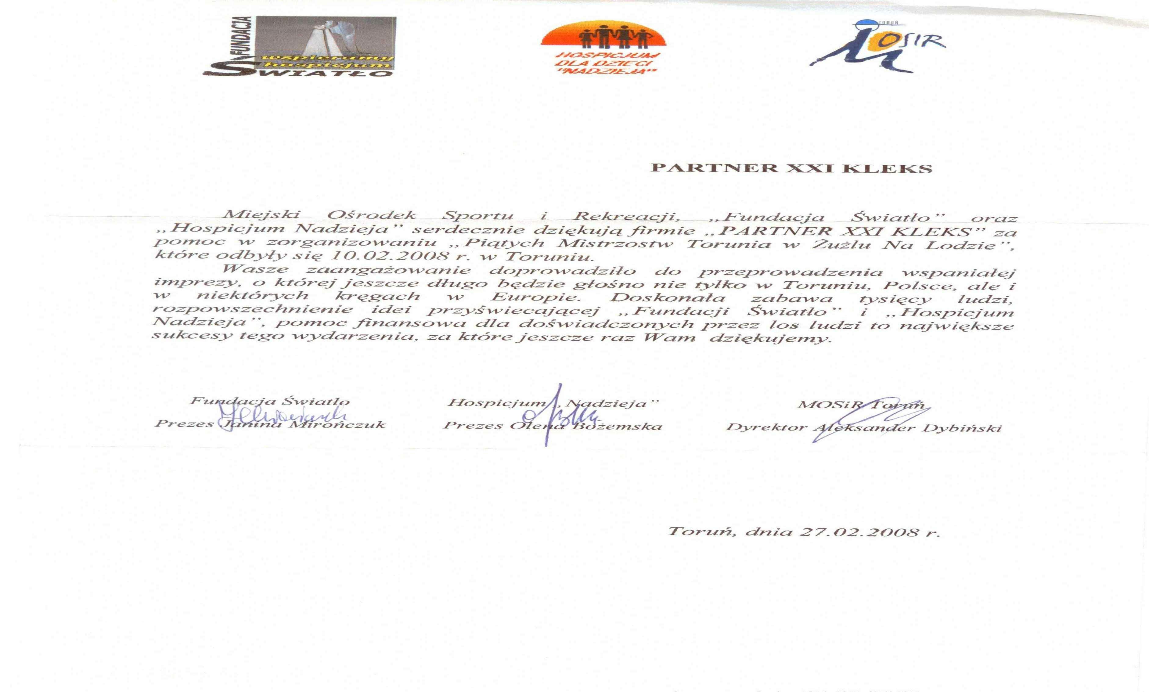 Fundacja Światło 2008