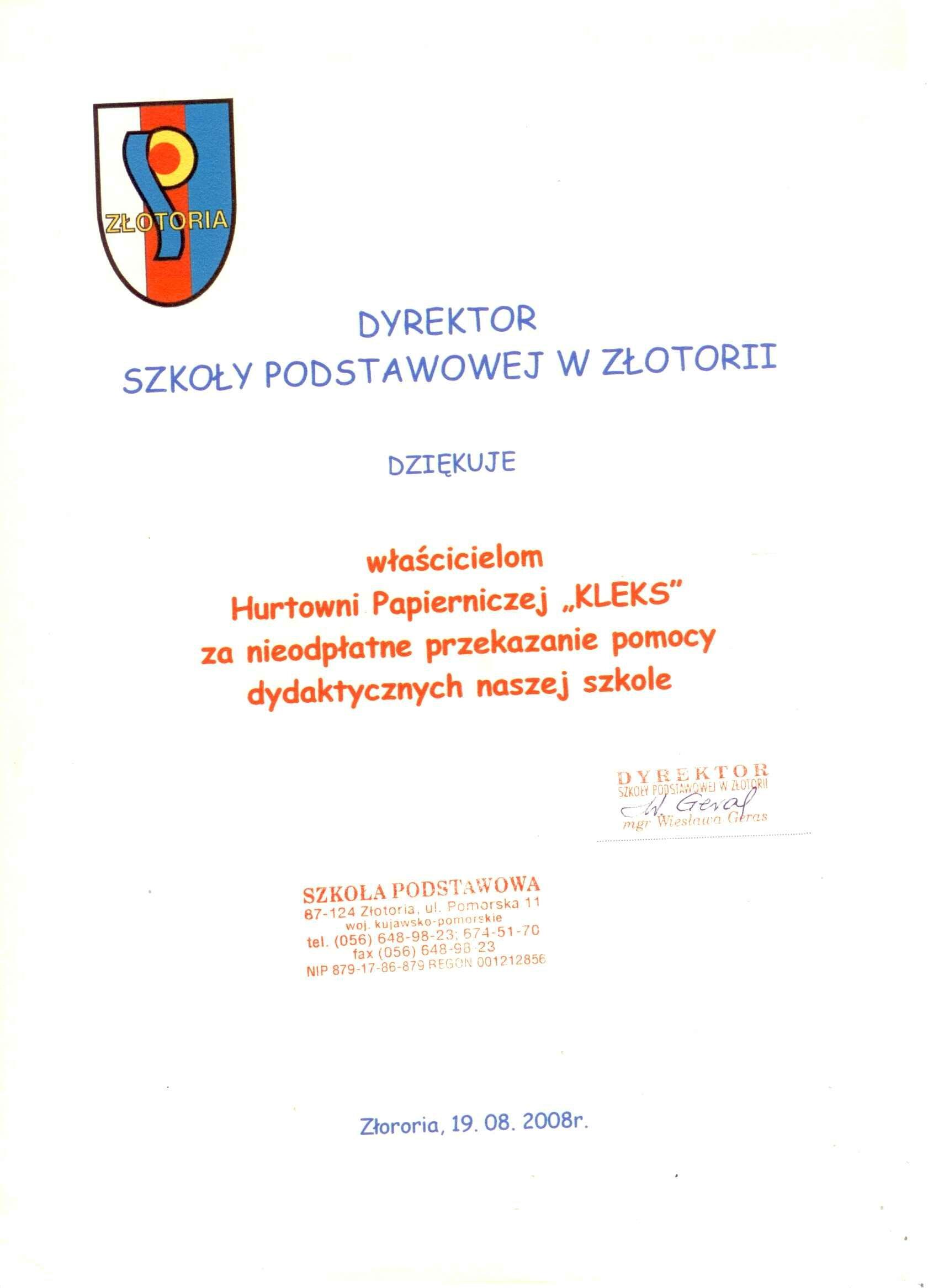 Złotoria 2008