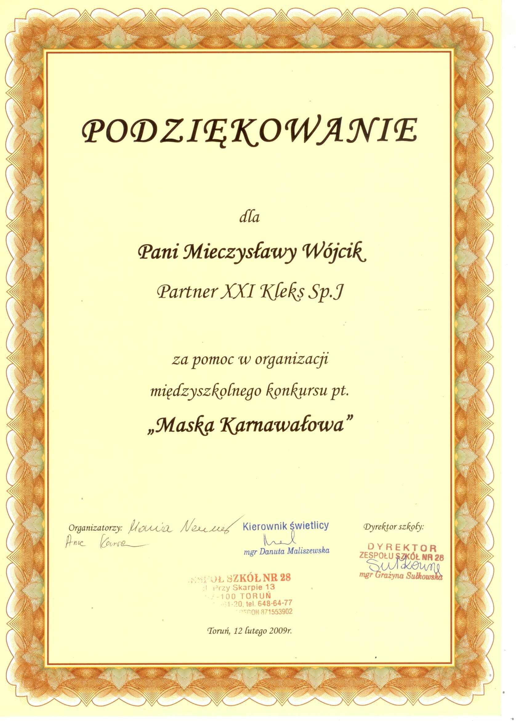 Maska Karnawałowa 2009