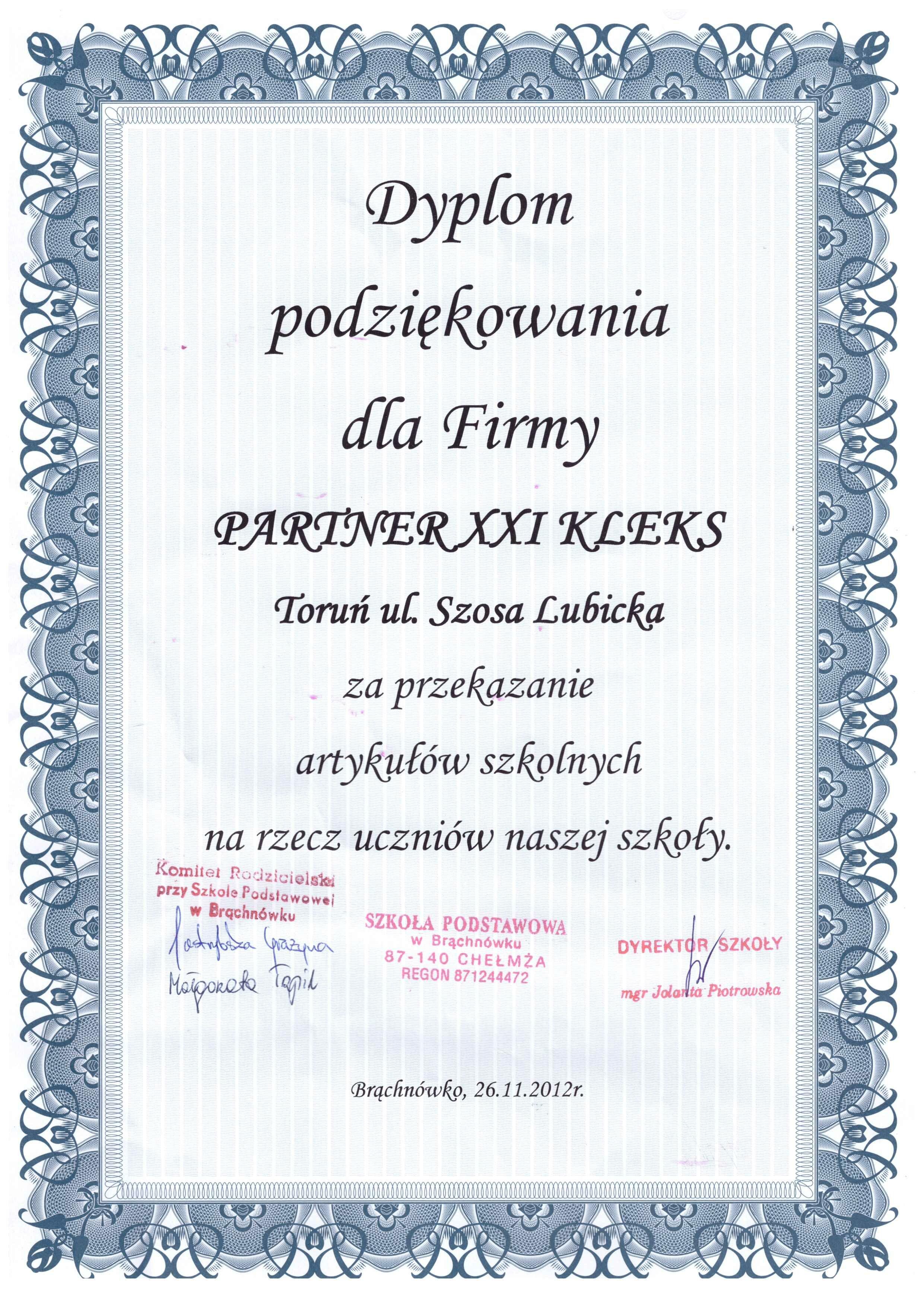 Szkoła Brąchnówko 2012