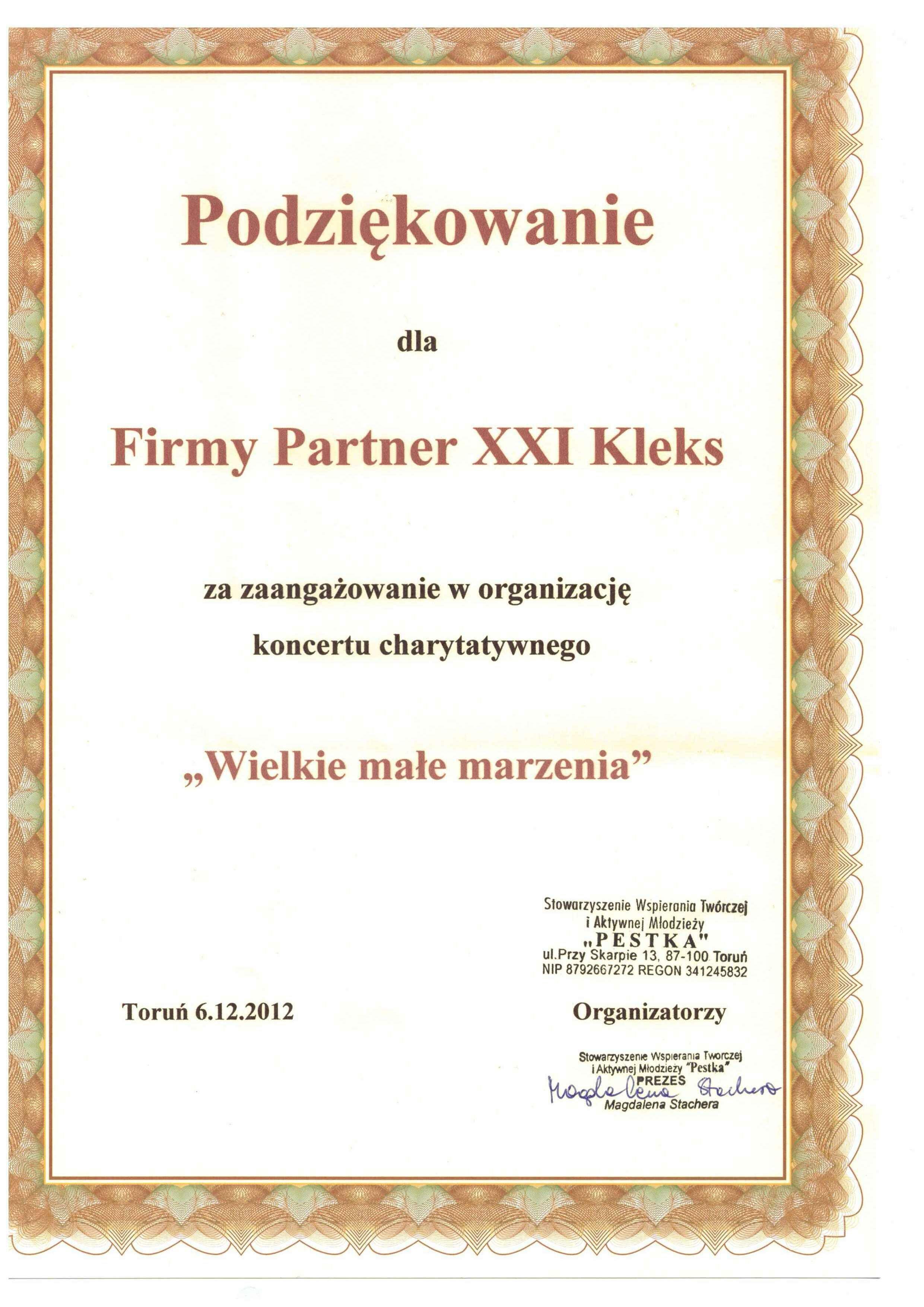 Stowarzyszenie Pestka 2012
