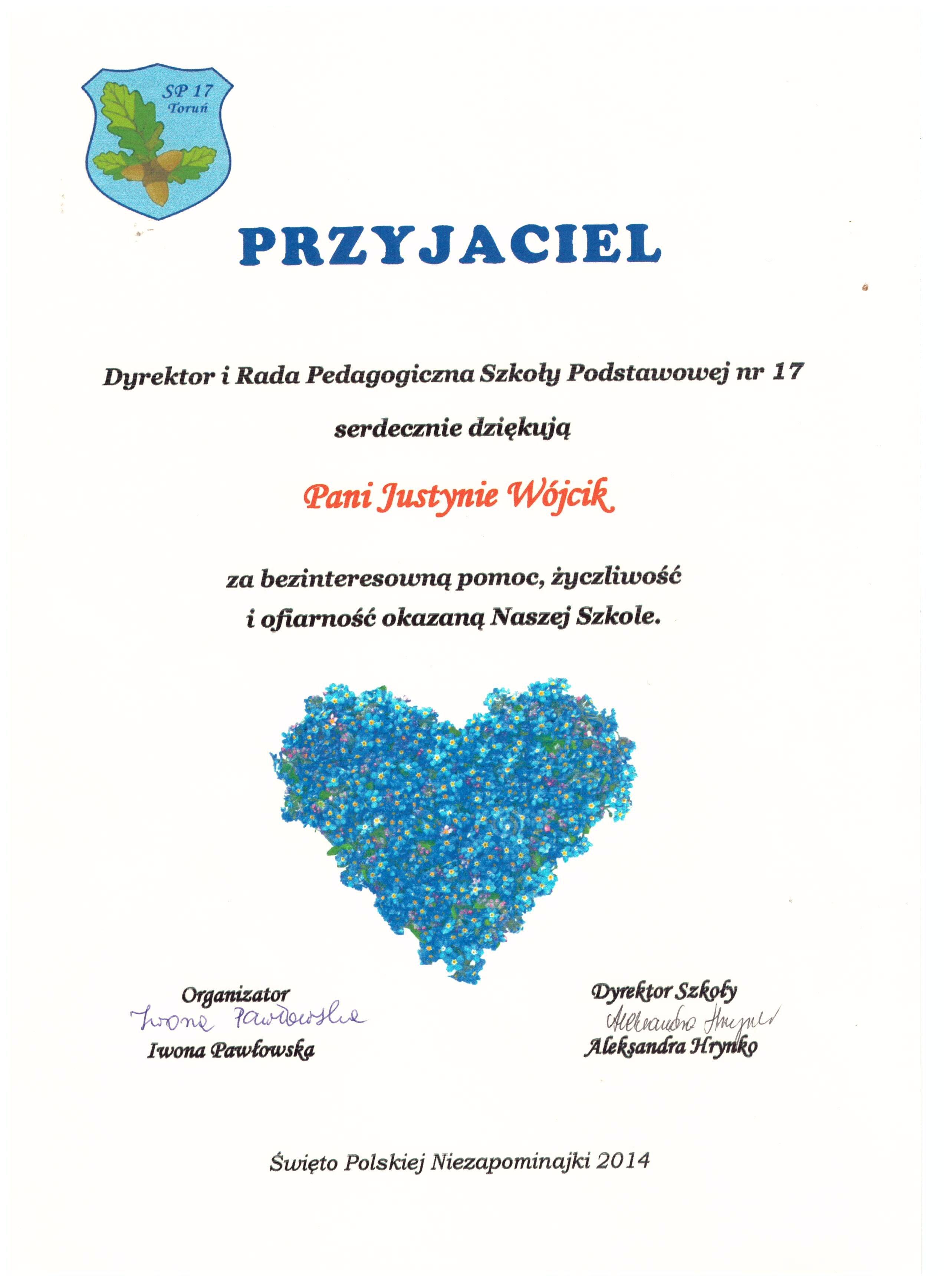 2014 - Święto Polskiej Niezapominajki