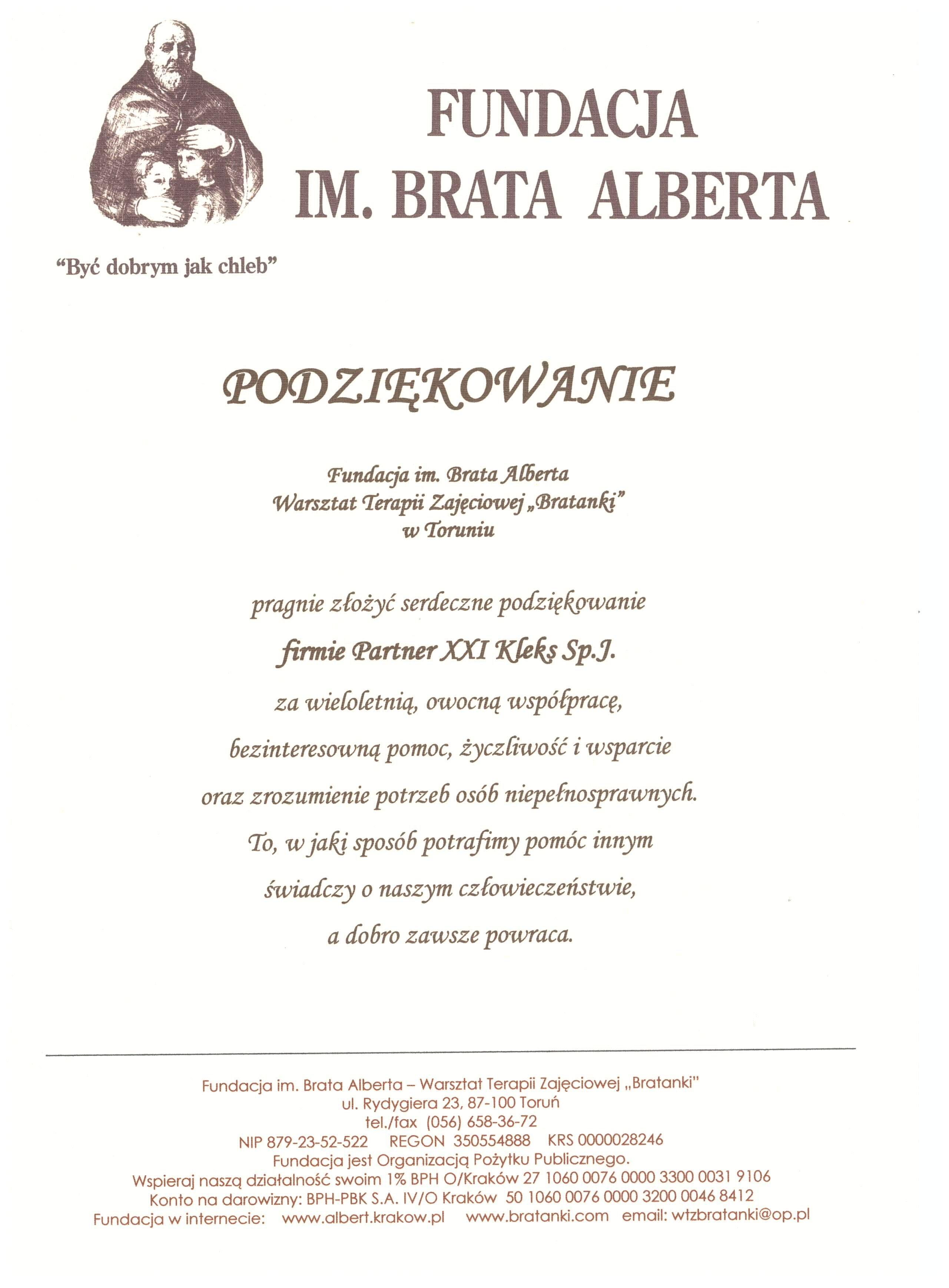 2014 - Fundacja Brata Alberta