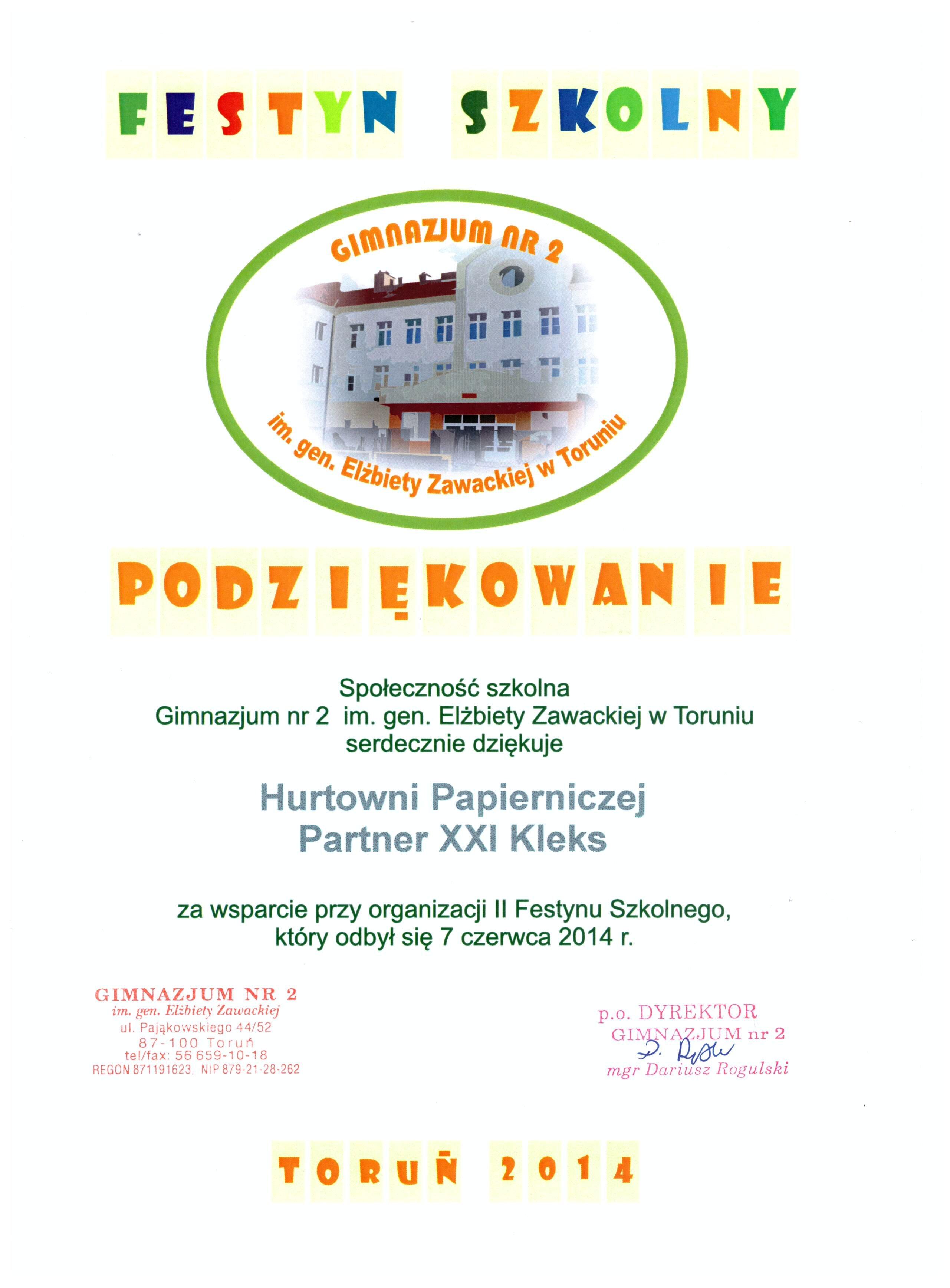 II Festyn Szkolny - gimnazjum nr 2