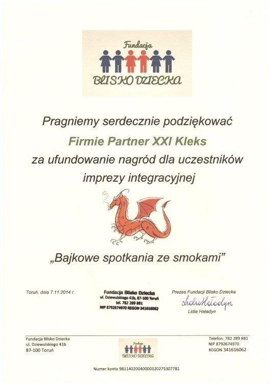 2014 - Fundacja Blisko Dziecka