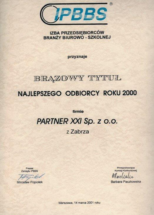 2001 Izba Przedsiębiorców Branży Biurowo-Szkolnej