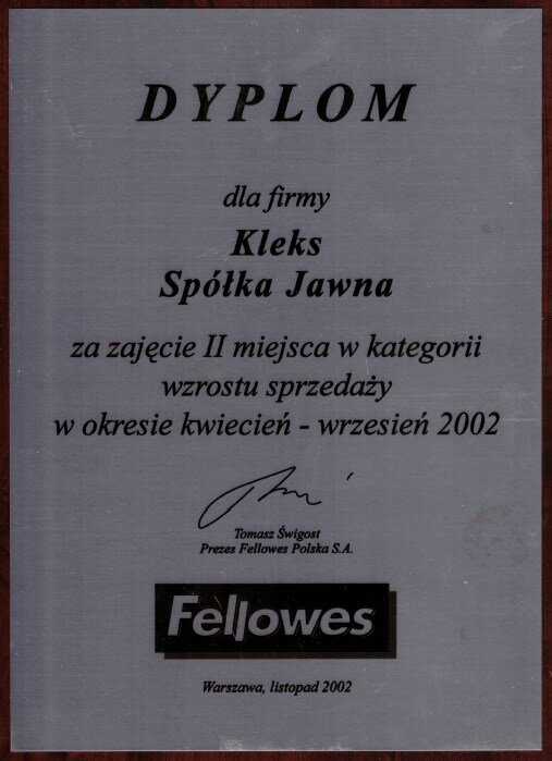 2002 Fellowes