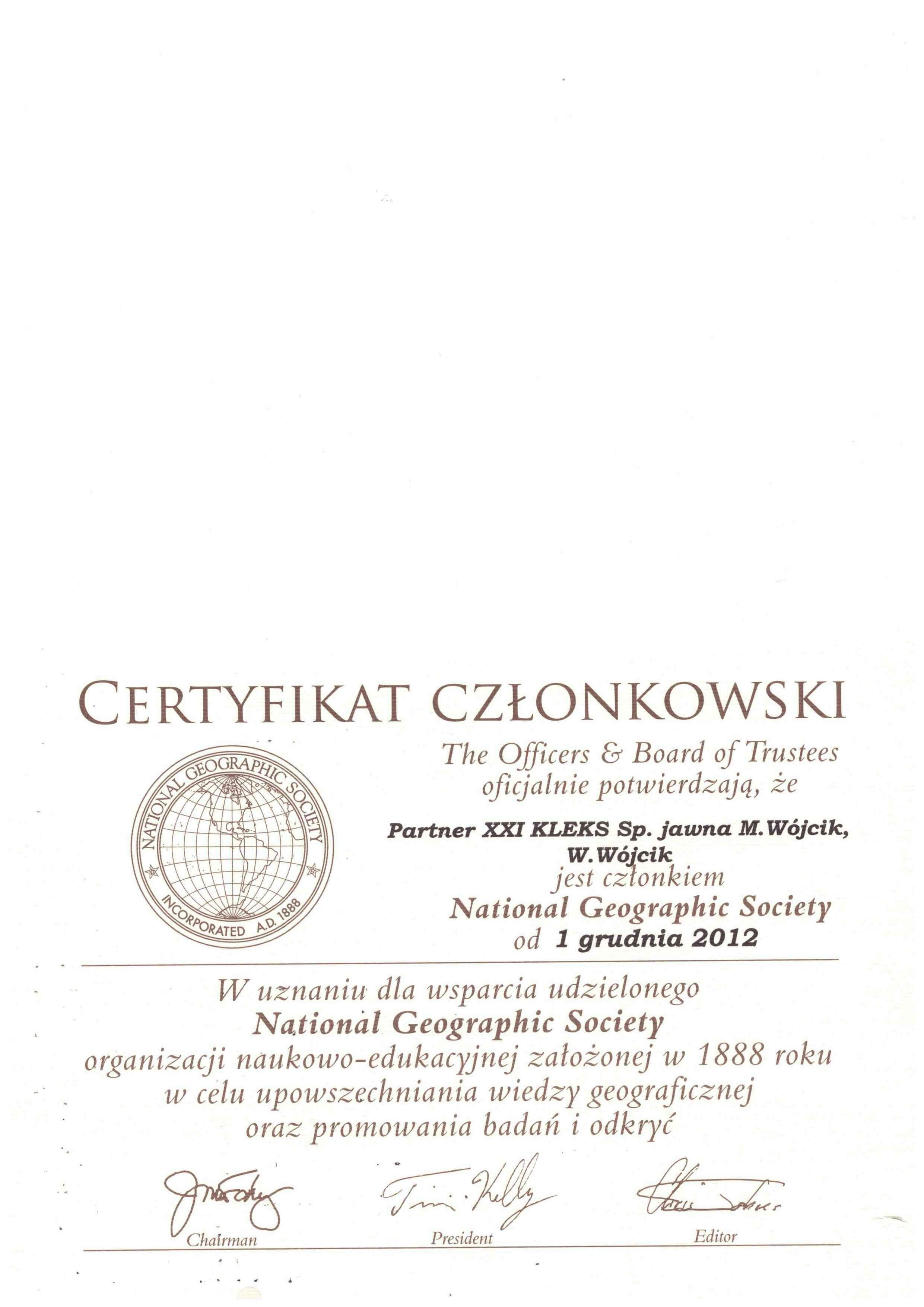 National Geografic Society