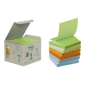 BLOCZEK EKOL. POST-IT Z-NOTES PASTEL 6SZT PO 100K 76X76MM R330-1GB    ---KAT.